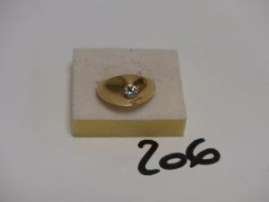 1 bague jonc en or ornée d'1 diamant TL brillant d'environ 0,25ct (Td62). PB 12,9g