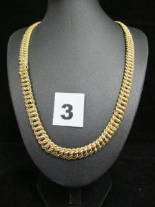 1 Collier en or maille américaine (L 46cm, maillons légèrement tordus). PB 21,9g