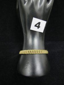 1 Bracelet en or maille américaine (L 18cm). PB 15,9g