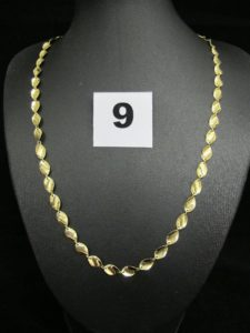 1 Collier en or maille alternée (L 44cm).PB 5,2g