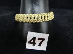 1 Bracelet en or maille américaine (L 19,5cm). PB 23,5g