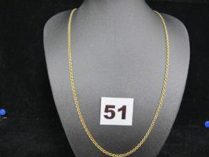 1 Chaine en or maille marine (L 50 cm). PB 6,2g