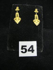 2 pendants d'oreilles (L 3,4cm). PB 4,7 g