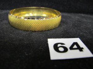 1 Bracelet 916/1000 : 22K rigide ciselé (diam 6,7cm). PB 17,8g