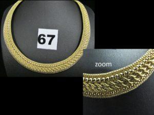 1 Collier en or en maille polonaise goupillée (L 42cm, état quasi neuf).PB 33,9g