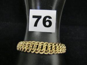 1 Bracelet en or maille américaine (L 19cm). PB 16,8g
