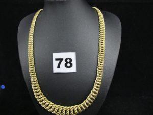 1 Collier en or maille américaine graduée (L 45cm). PB 20,2g
