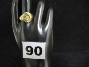 """1 Chevalière en or gravée """"JC"""" (TD 62). PB 9,5g"""