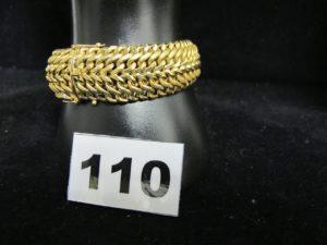1 Bracelet en or large maille sorcière (L 18,5cm). PB 33,7g