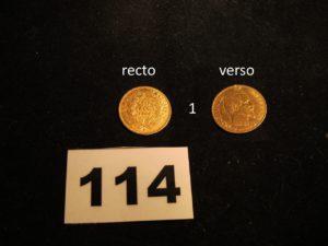 1 Pièce 10fr Napoléon III année 1860 (trace de soudure d'un côté). PB 3,1g