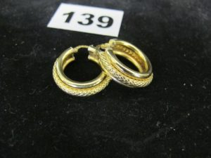 2 Créoles en or. PB 9,3g