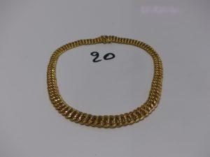 1 collier maille américaine en or (L43cm). PB 41,5g