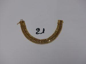 1 bracelet maille russe en or (L19cm). PB 22,8g