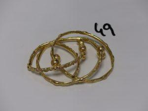 3 bracelets en or pour la casse. PB 28,6g