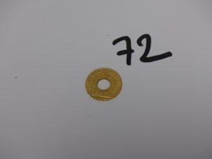 1 pendentif pièce de 20frs trouée RF1912 en or. PB 5,6g