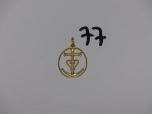 1 Croix Camarguaise en or (H4cm).PB 3,8g