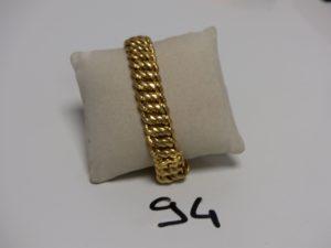 1 bracelet maille américaine en or (L20cm). PB 38,8g