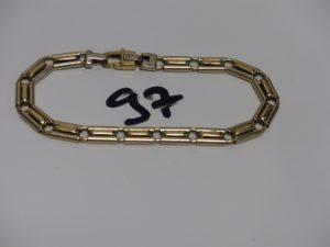 1 bracelet maille fantaisie articulée en or (L20cm). PB 11,4g