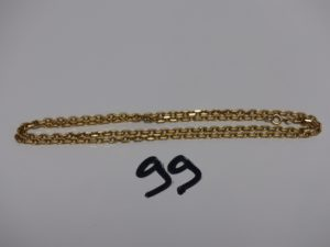 1 chaîne maille forçat en or (L55cm). PB 18,6g
