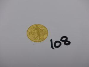 1 Pièce d'or de 500 Euros RF la Semeuse (or 24K). PB 12g
