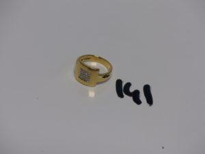 1 bague en or ornée de petits diamants (td53). PB 5,3g