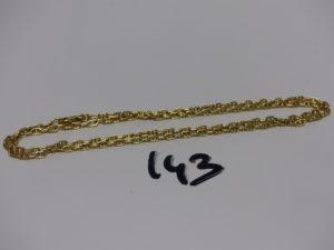 1 chaîne maille marine en or (L30cm). PB 18,1g