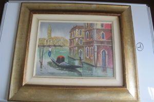 """Une Huile sur Toile """"Venise"""" signée en bas à gauche """"CHIAROLANZA""""-30*40 cm."""