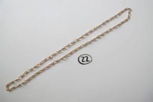 1 Chaine en or maille forçat (L68cm). PB 34,3g