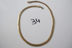 1 Collier en or maille anglaise(L42cm). PB 16,2g