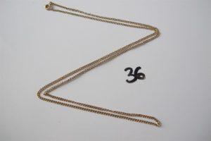 1 Chaine en or (L60cm). PB 6g