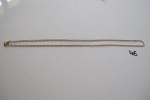 1 Chaine en or (L58cm).PB 9,5g