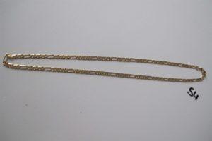1 Chaine en or maille alternée(L50cm). PB 18,5g