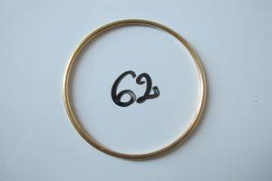 1 Bracelet jonc en or (D6,5cm).PB 16,6g