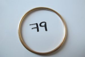 1 Bracelet jonc en or(D6,5cm).PB 28,7g