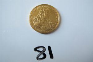 1 Pièce en or 24 K de collection. PB 17,4g