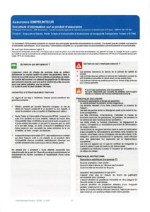 Document d'information assurance emprunteur