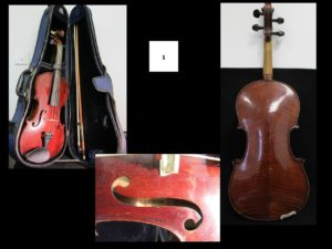 "1 violon plus archer ""Lebrun""."