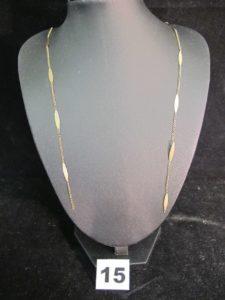 1 Collier en or (cassé) maille alternée (L 46cm) PB :4,2g