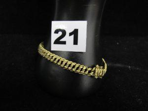 1 bracelet en or maille américaine (L 20cm abimé). PB : 10,4g