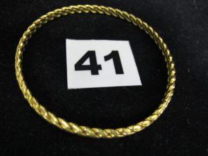 1 jonc torsadé 22K (L 6cm). PB : 21,6g
