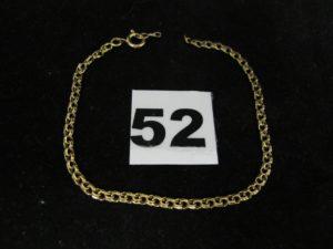 1 Bracelet en or (sectionné) en maille (L 18cm). PB : 3g