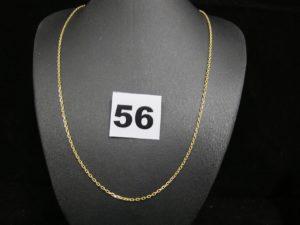 1 chaine en or maille forçat (L 43cm) PB : 3,8g