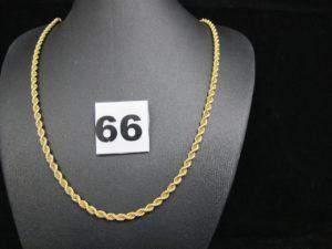 1 chaine maille corde en or (L 50cm) PB : 22,2g