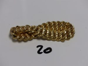 1 bracelet maille américaine en or (L19cm). PB 32,3g