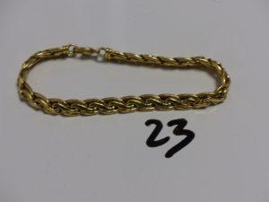 1 bracelet maille festonnée en or (L51cm). PB 14,4g