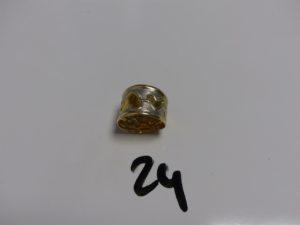 1 bague en or à décor de coeurs (Td51). PB 2,1g dm1