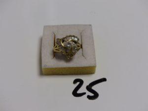 1 bague en or ornée de pierres (Td54). PB 7,9g