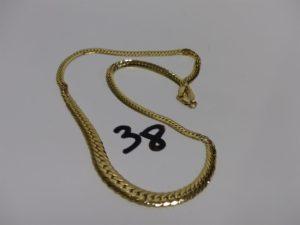 1 collier maille anglaise très abimée en or (L43cm). PB 11,9g