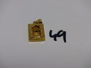 1 pendentif ouvragé en or 21K (abimé). PB 6,1g