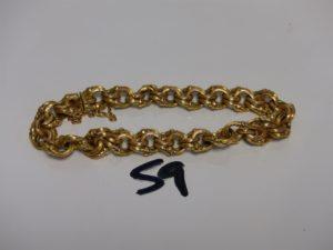 1 bracelet maille tressée en or avec sécurité (L20cm). PB 18,1g